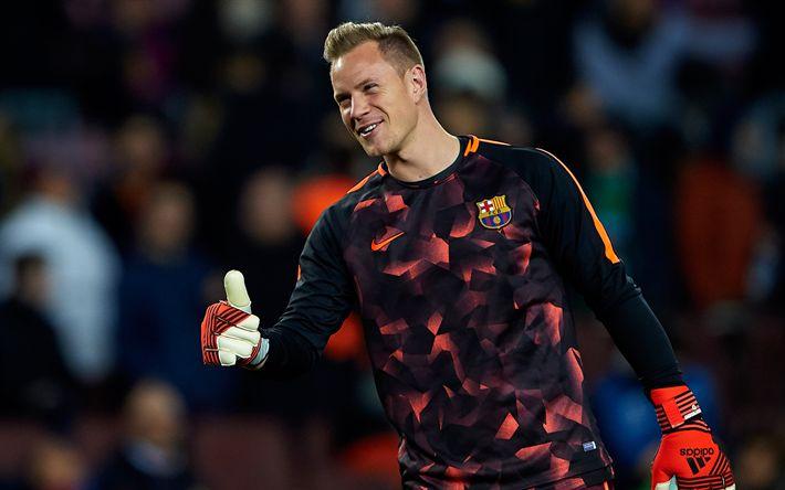 Download wallpapers Marc-Andre ter Stegen, German goalkeeper, football, Barcelona FC, La Liga, Spain, 4k