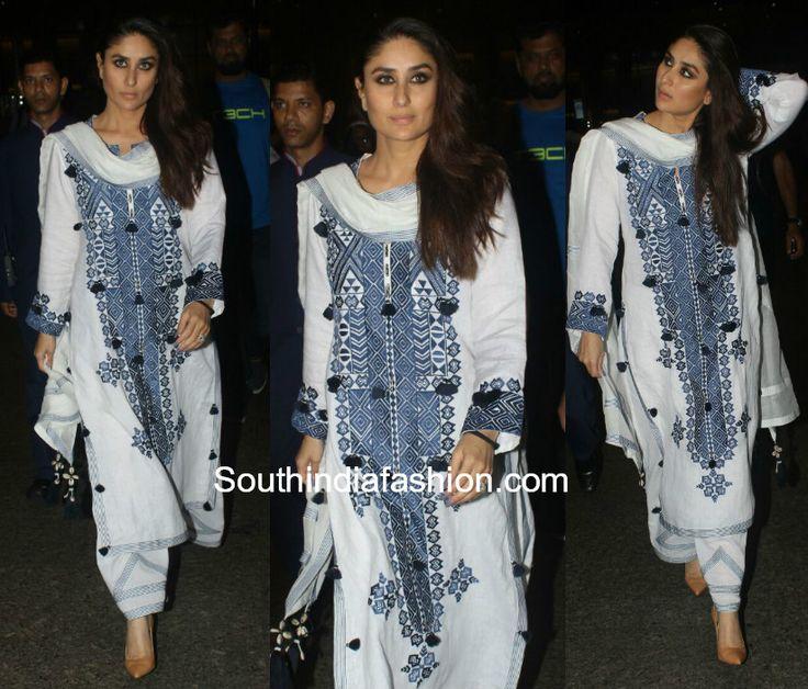 Kareena Kapoor in a salwar suit at the airport photo