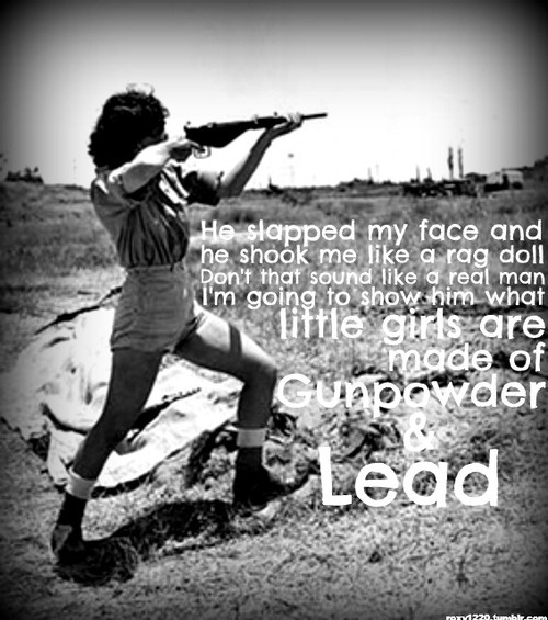 gun powder and lead