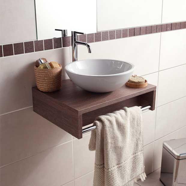 Plan lave mains Evasion sans vasque - Bois foncé - Lapeyre