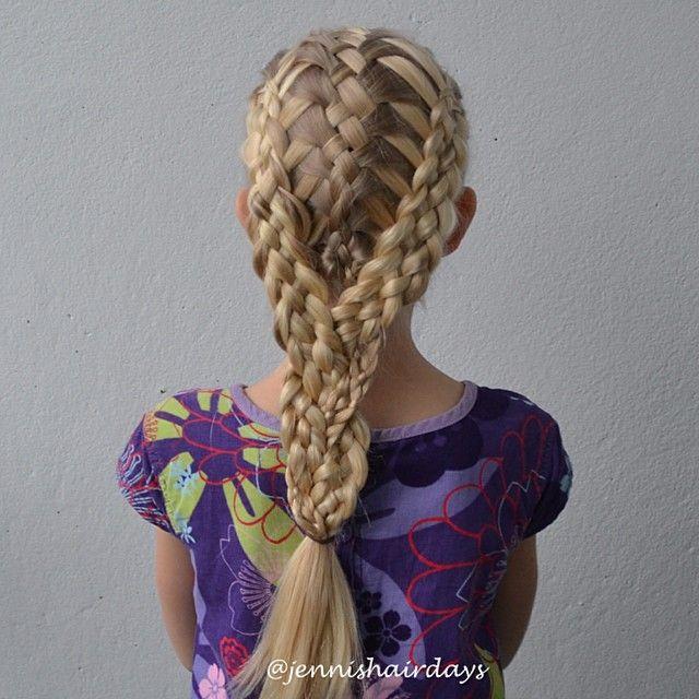 Three 5-strand braids by Jenni's Hairdays kolme viisiosiolettiä