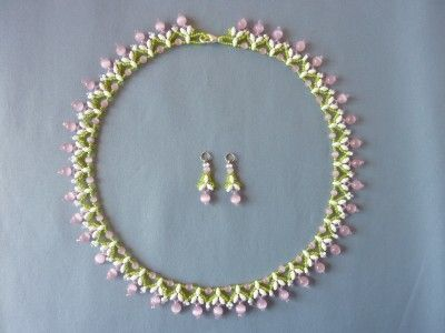 FREE beading pattern for Twin Flanked Drop Earrings