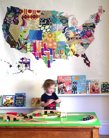 Us Map Mural.Patterned Usa Map Mural For Kids Room Cute Ideas For Home