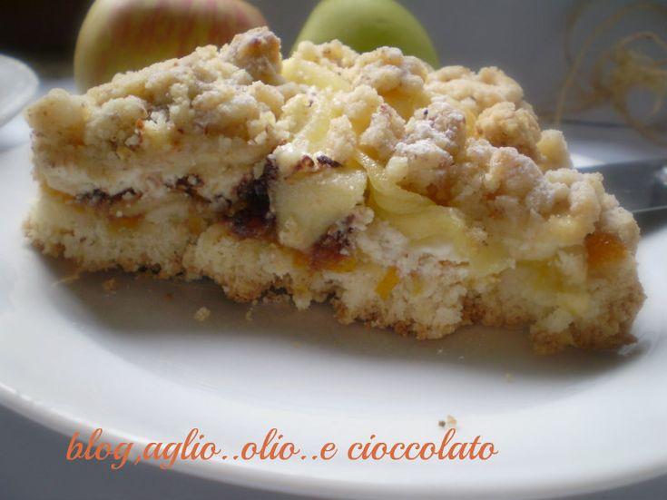 sbrisolona con mele ricotta e cioccolato