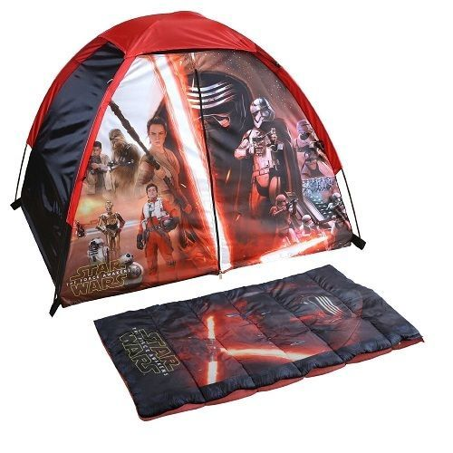 Star Wars Discovery Kit Tent Sleeping Bag Indoor Outdoor Camping Playtime Age 4+