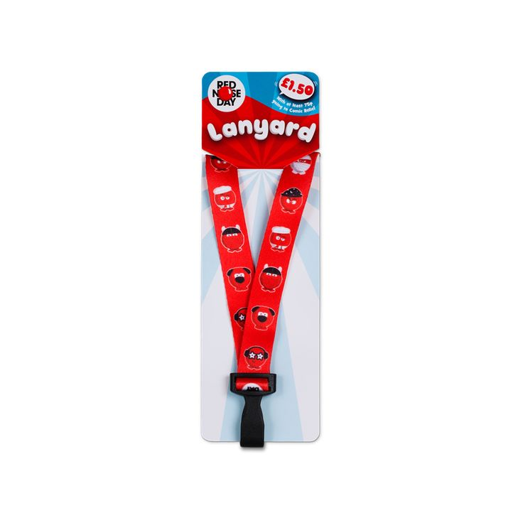 Add a bit of character to your work day with a Red Nose Day lanyard, featuring all nine Noses and brand new for Red Nose Day 2017.