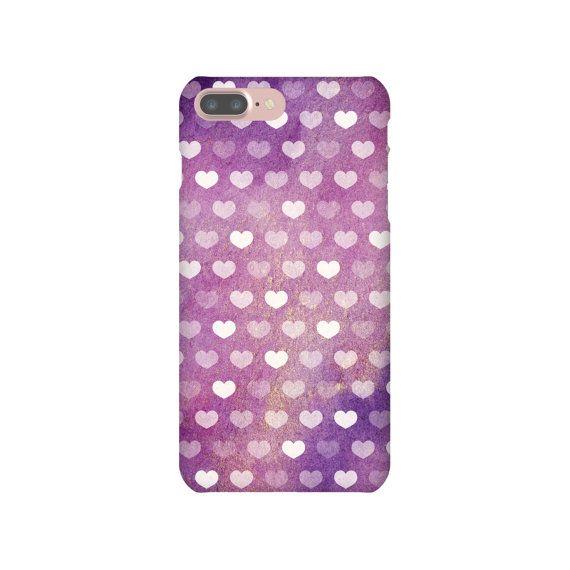 iPhone 6s 7 Plus Slim Snap Case Watercolour Loveheart Love Heart Gradient Purple Pink Yellow iPhone SE Samsung Galaxy S7 Edge