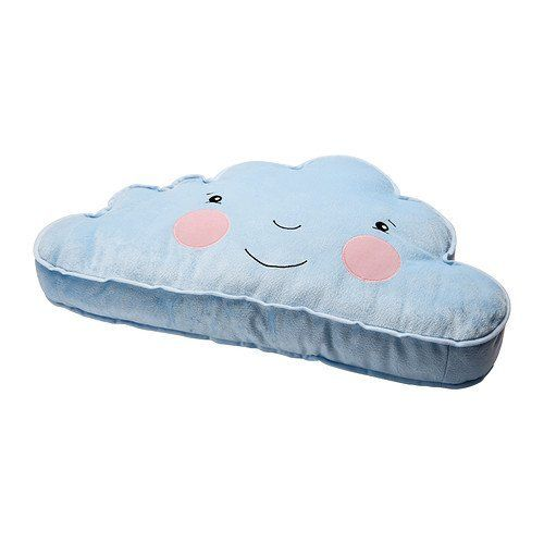 Ikea Cushion Pillow Blue Smiling Cloud Accent Kids Childr…