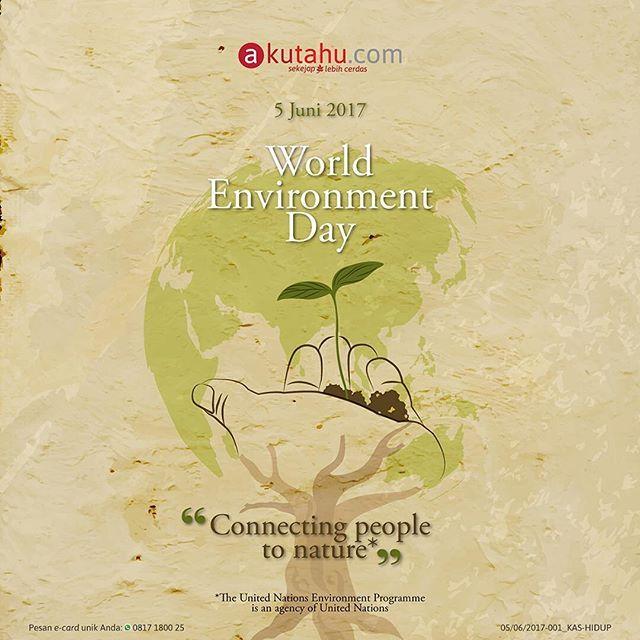 Hari ini 5 Juni 2017 diperingati sebagai Hari Lingkungan Hidup Sedunia.  Apa aksi nyata kamu untuk merayakan Hari Lingkungan Hidup Sedunia ini sobat?  #WorldEnvironmentDay2017  #PLHK  #WithNature  #sekejaplebihcerdas #akutahu #infographic #socialmedia #startuplokal #branding #positivevibes #startup #indonesia #jakarta #bandung #yogyakarta #bali #lingkunganhidup #masadepan
