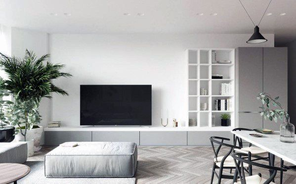 Living Room Idea With Tv On Wall Awesome Top 70 Best Tv Wall Ideas Living Room Television Des Living Room Entertainment Trendy Living Rooms Living Room Tv Wall