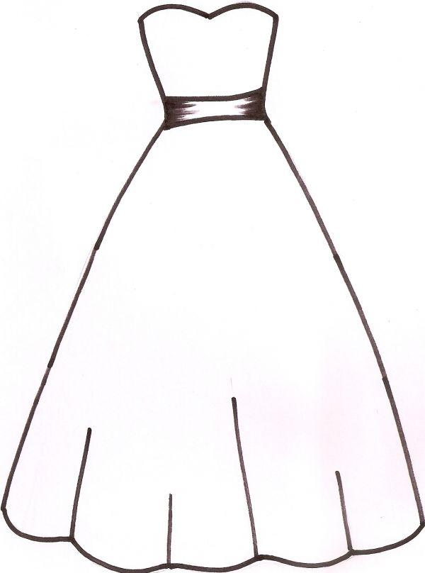 Wedding Dress Template Paper dresses Pinterest Templates
