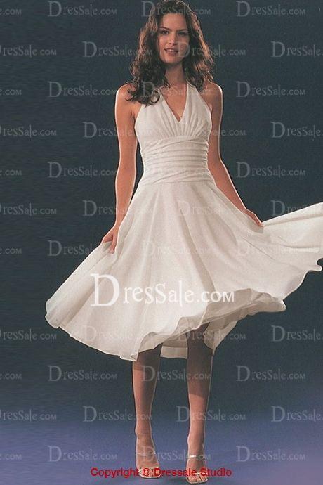 Romantic Halter Chiffon Knee-length Bridesmaid Gowns