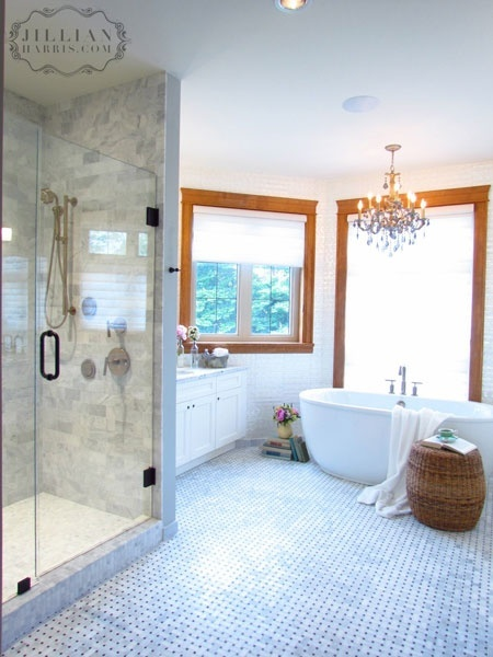 15 best images about jillian harris love it or list it on for Pretty master bathrooms