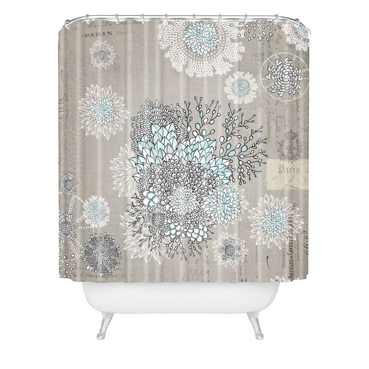 extra long grey shower curtain. DENY Designs Iveta Abolina Woven Polyester French Blue Extra Long Shower  Curtain Reviews Wayfair Best 25 shower curtains ideas on Pinterest long