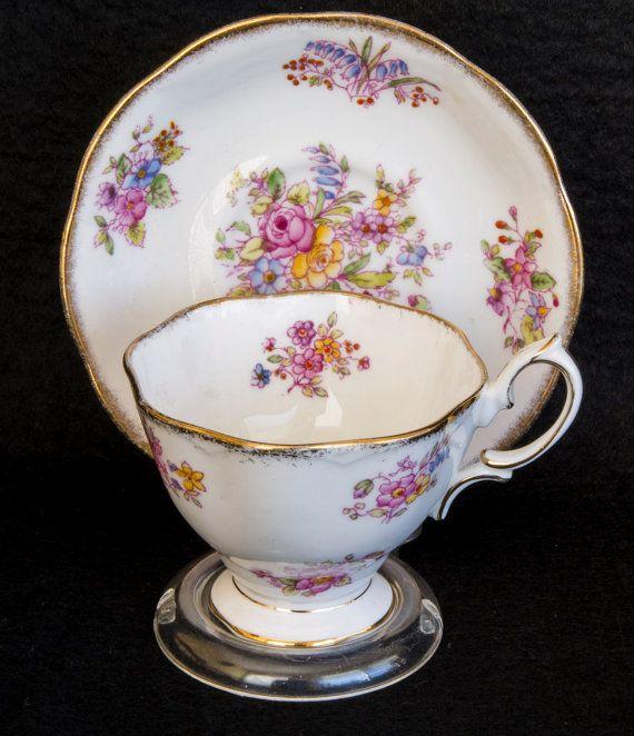 Vintage Royal Albert, England , tea cup and saucer / 1960s