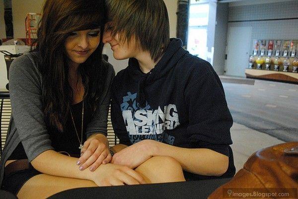Cute, hug, emo, couple, sad, girl