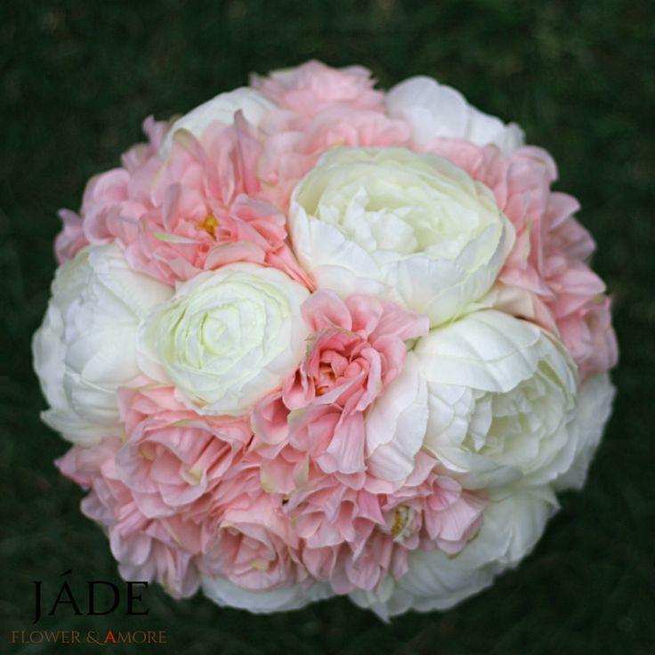 #esküvő #csokor #rózsaszín #örökcsokor