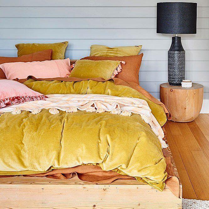 Life Is Golden Mustard Velvet Velvet Quilt Cover Discount Bedding Sets Cheap Bedding