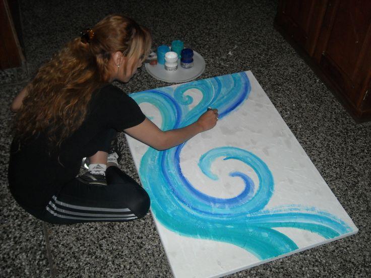 CUADRO MODERNO CONTEMPORANEO... DREAMS IN BLUE...