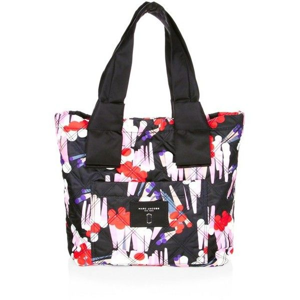 Marc Jacobs Geo SpotPrint Knot Small Tote ($225) ❤ liked on Polyvore featuring bags, handbags, tote bags, black, totes, handbags totes, tote hand bags, tote bag purse, polka dot tote and geometric purse