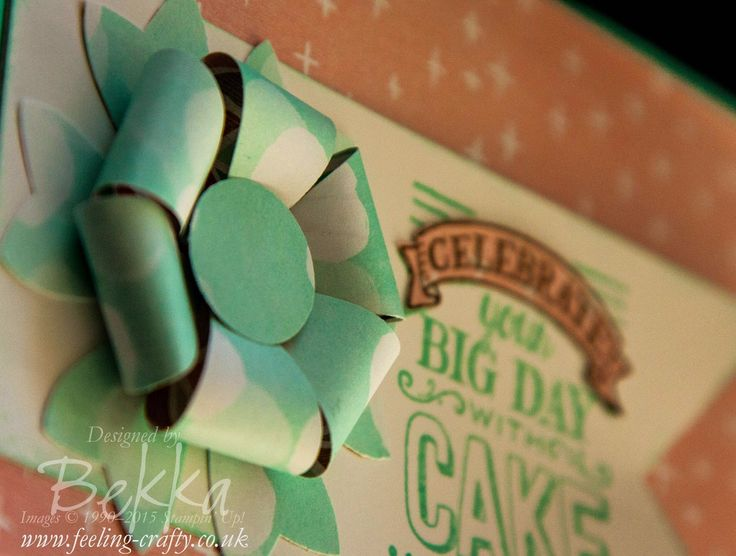 Card featuring the Bow Builder Punch from Stampin' Up! UK - Free Tutorial for 3 different bows here