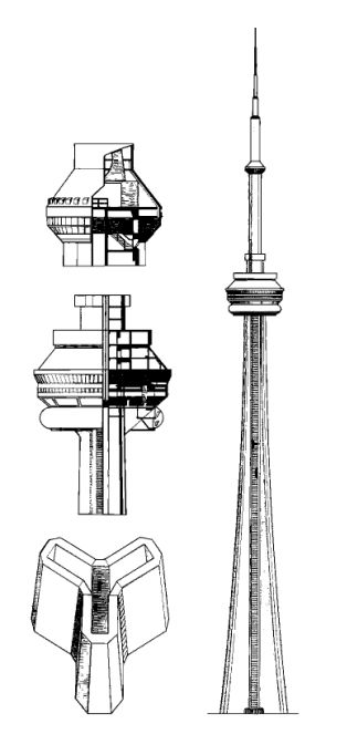 """redhousecanada:  CN Tower in Toronto, Canada (555 metres) - continuous concrete pour 1975  """