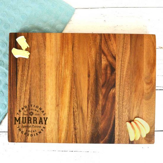 Personalised Traditional Cooking Chopping Board