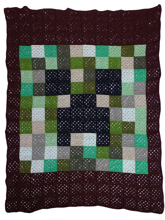 Minecraft Crochet Afghan Pattern Free : 17 Best images about Crochet ideas for blankets & perler ...
