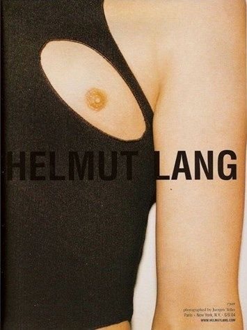 Helmut Lang SS04 campaign ad Juergen Teller nipple