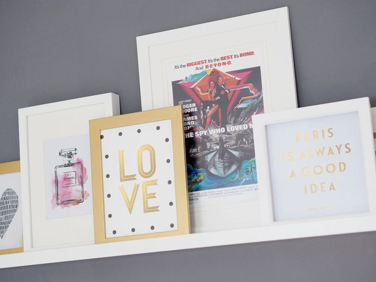 PICTURE LEDGE, IKEA. FRAMED PICTURES, PINK & GREY BEDROOM MAKEOVER - Bang on Style