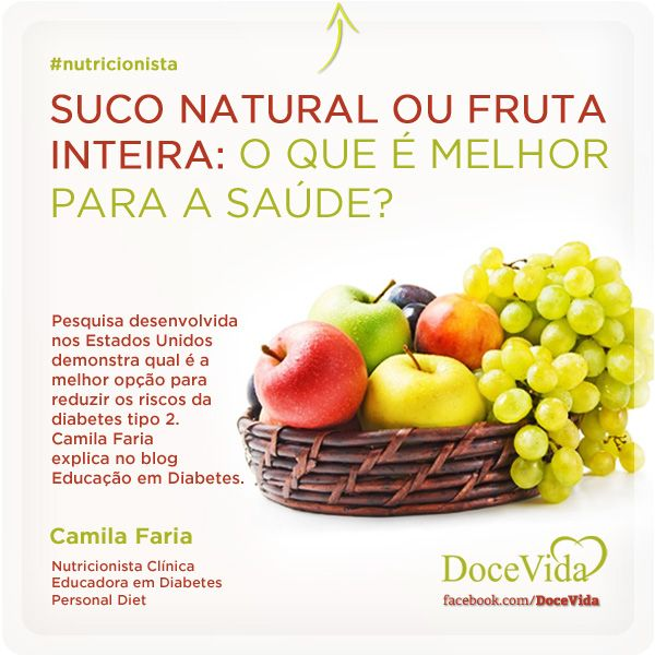 LEITURA RECOMENDADA! Segundo estudo publicado no Bristish Medical Journal, comer mais frutas inteiras como, em especial, as Blueberries (No Brasil, chamadas de Mirtilos), Maçãs e Uvas tendem a reduzir o risco de desenvolver Diabetes Tipo 2