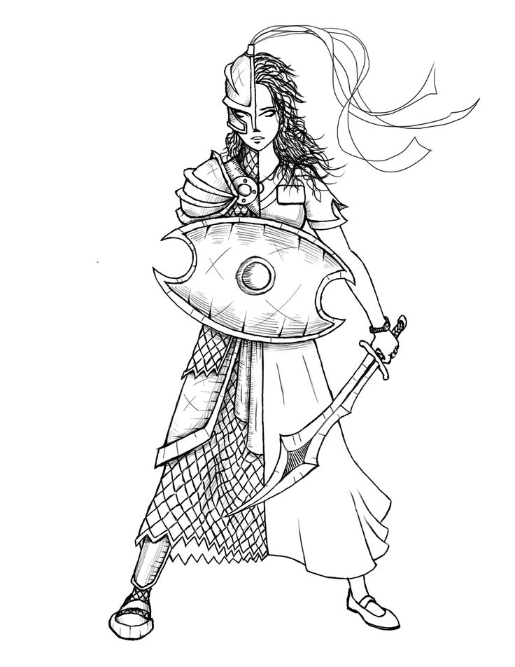 Female Warrior Armor Of God Sketch Coloring Page Princess Coloring Pages Armor Of God Steampunk Animals