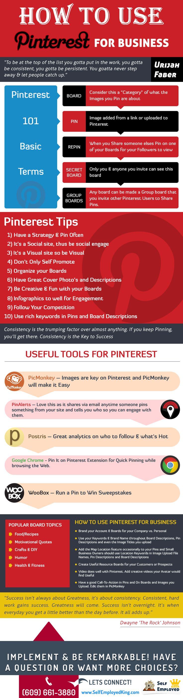 How to Use Pinterest For Business #infographic