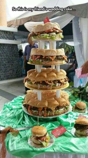 """Lol, I don't know about this for a wedding """"cake""""!"""