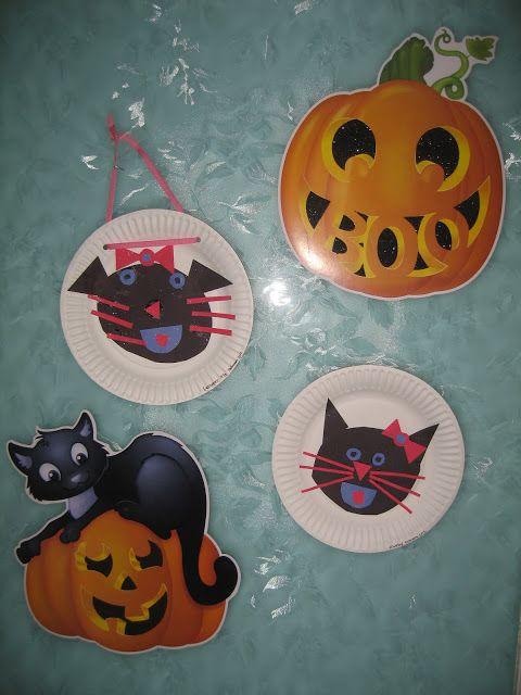 MyTalesFromTheCrib: Preschool Craft: Halloween Kitty Cat