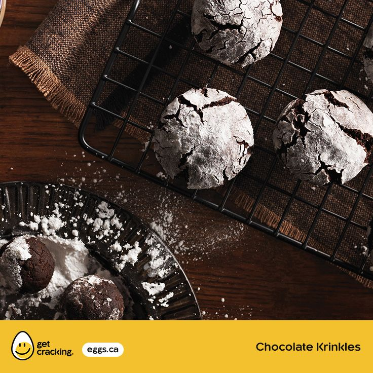 Chocolate Krinkles | Eggs.ca | #GetCracking #Eggs #Cookies