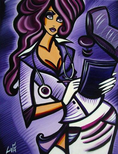 """Purple Doc"" 62x46cm   acrylic on canvas/ Laetitia Guilbaud"
