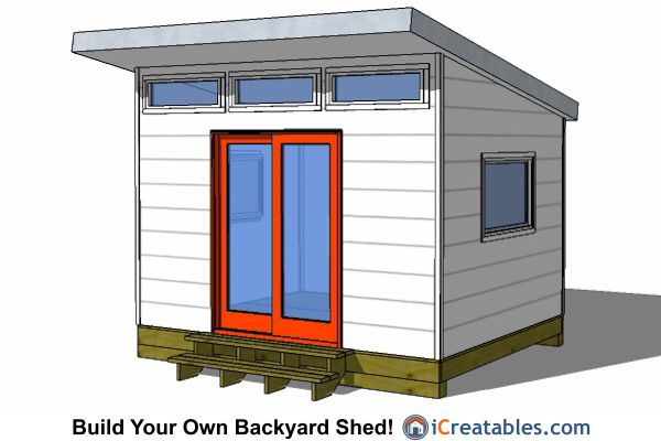 10x12 modern backyard shed plans from for Modern office shed