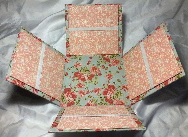Outras queridinhas por aqui são as caixinhas surpresa .  Podem ser usadas pra diversas coisas , como caixa de costura , pra presentear co...