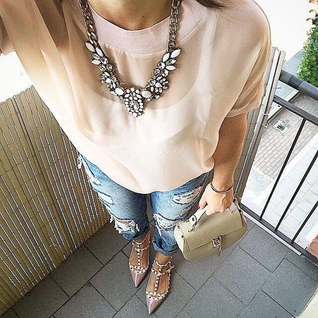 Snow White Statement Necklace - #fashion #style #fashionable #outfit #fashionista #jewelry #necklace #statementnecklace - 24,90 @happinessboutique.com