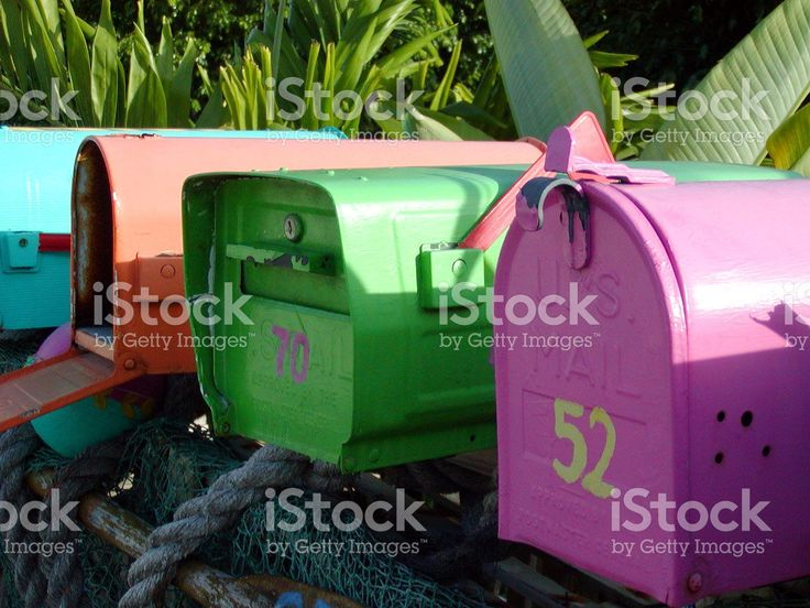 tropical mailboxes royalty-free stock photo
