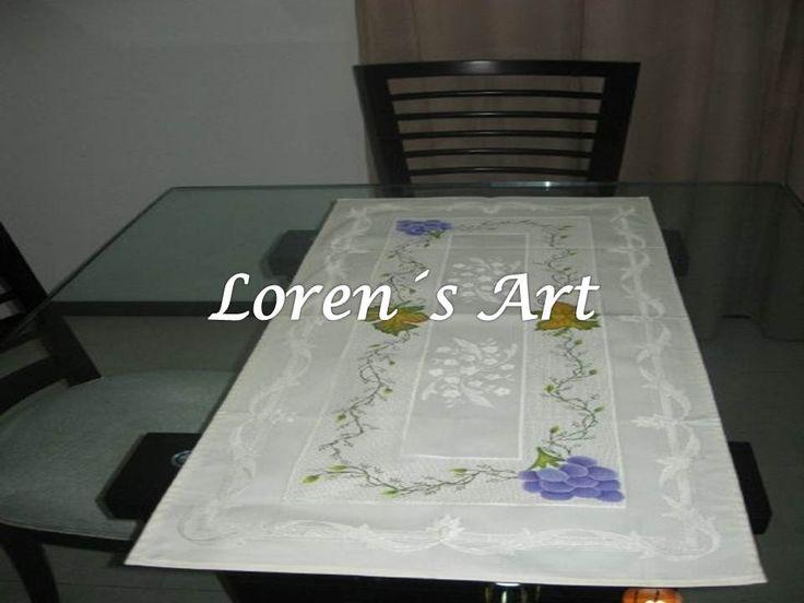 1000 images about pintura en tela manteles caminos de - Manteles y caminos de mesa ...