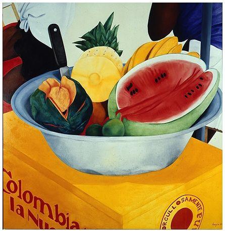 """Orgullosamente colombiana"" 1995. Artista: Ana Mercedes Hoyos http://www.anamercedeshoyos.com/amhdic08/admin/1990pintura//images/024.jpg"