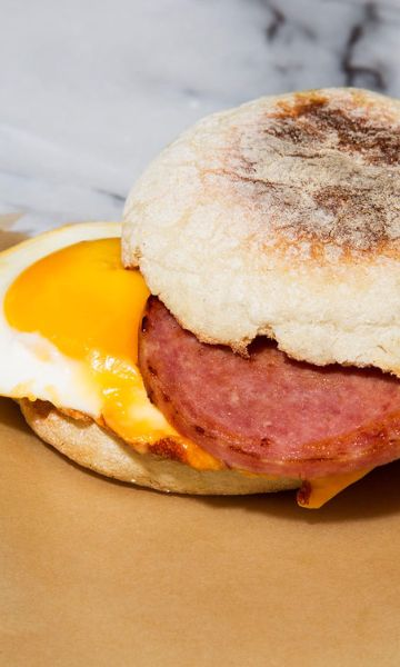 Make these hangover helpers with the processed meat pride of New Jersey: pork roll (a.k.a. Taylor ham).