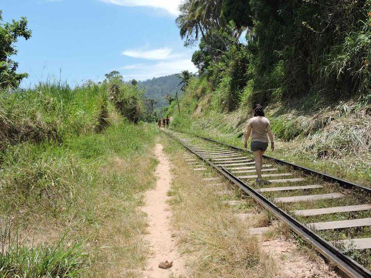 Escursione lungo i binari della ferrovia in Sri Lanka a Ella