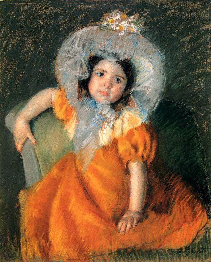 Мэри Кассат «Девочка в оранжевом платье»
