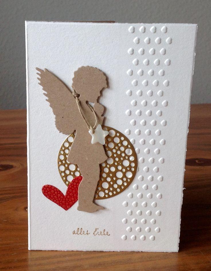 weihnachtskarten mit engel stanze alexandra renke. Black Bedroom Furniture Sets. Home Design Ideas