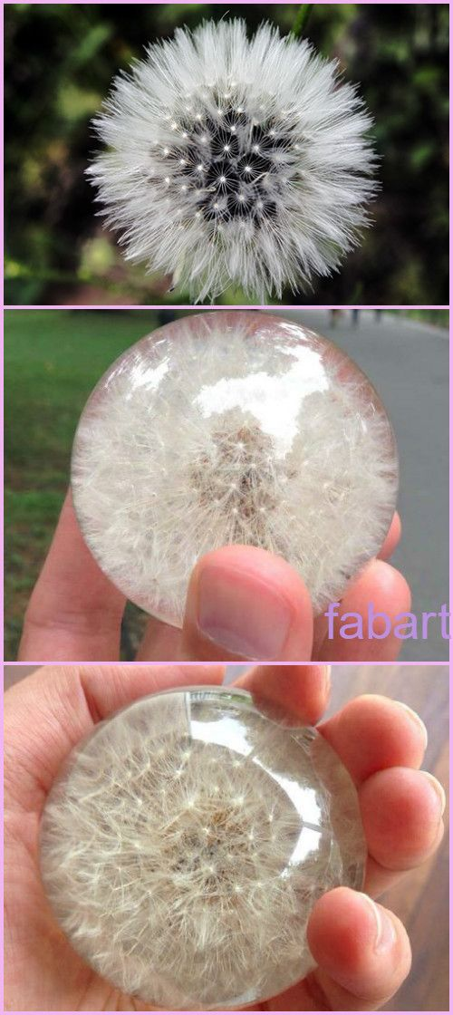 How to Make Dandelion Paperweight Gem Tutorial-Video