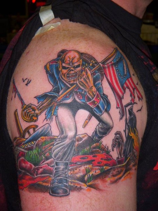 iron maiden tattoos archives nothing but art. Black Bedroom Furniture Sets. Home Design Ideas
