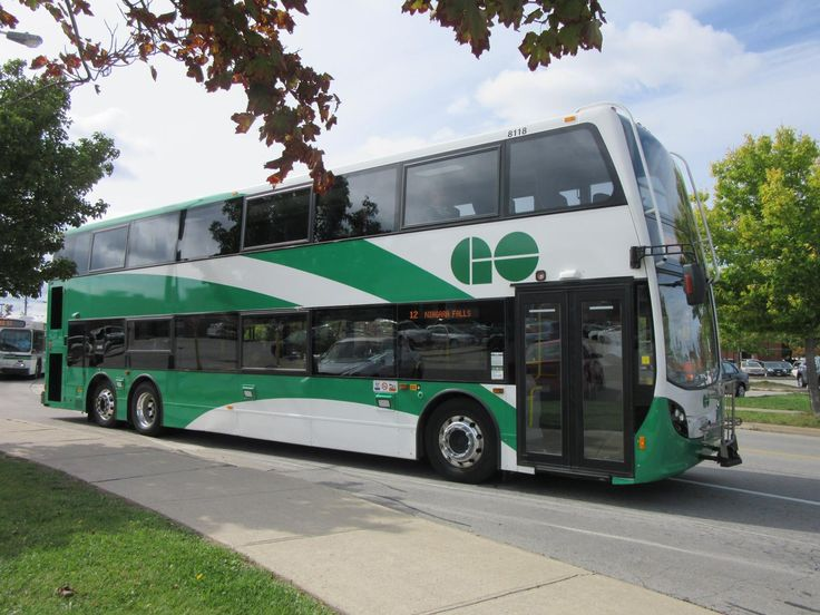GO Transit Alexander Dennis Enviro500 8118 departing the Fairview Mall in St. Catharines earlier today.